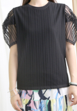 Puff Mesh Sleeves Top (2 colours)