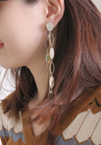 Metal Chain with Leaves Earrings
