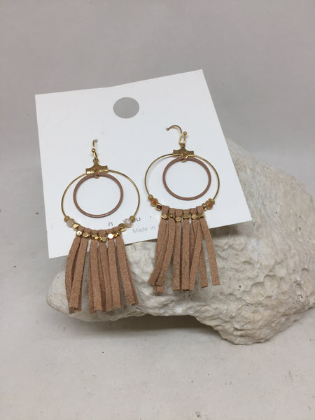 Double Circle with Tassels Earrings