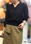 Organza Sleeves Knit Top (3 colours) (pre order)