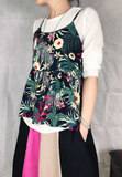 Floral Vest with Tee Set (2 colours) (pre order)