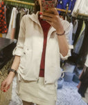 Chiffon Hoodie Jacket (2 colours) (pre order)