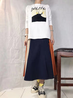 Mixed Side Pleated Chiffon Skirt (2 colours) (pre order)