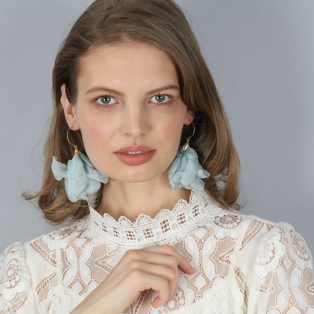 Chiffon Pouff Earrings