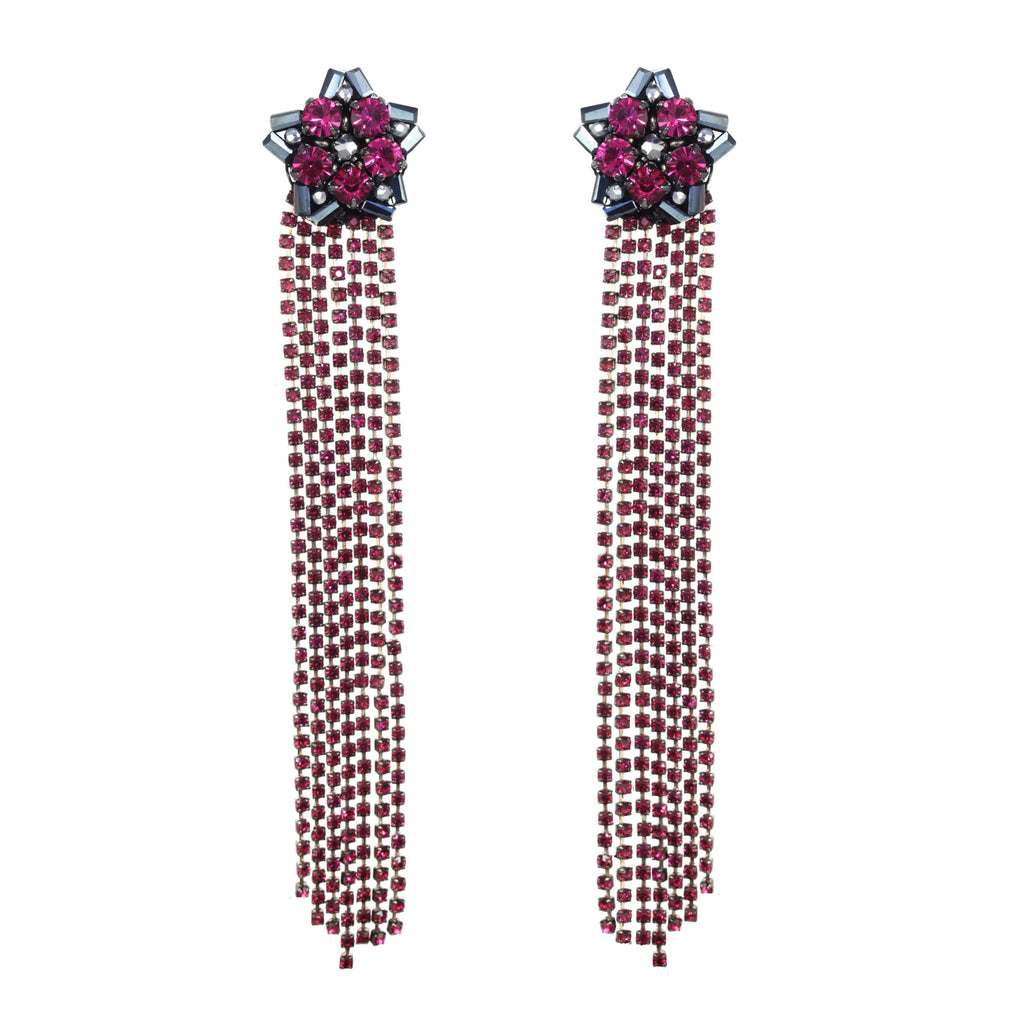 Star burst Fringe Earring