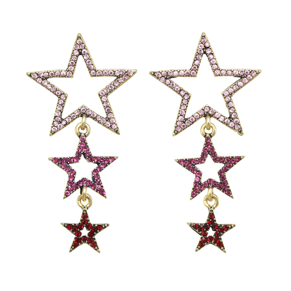 Shooting Star Earring Fuchsia