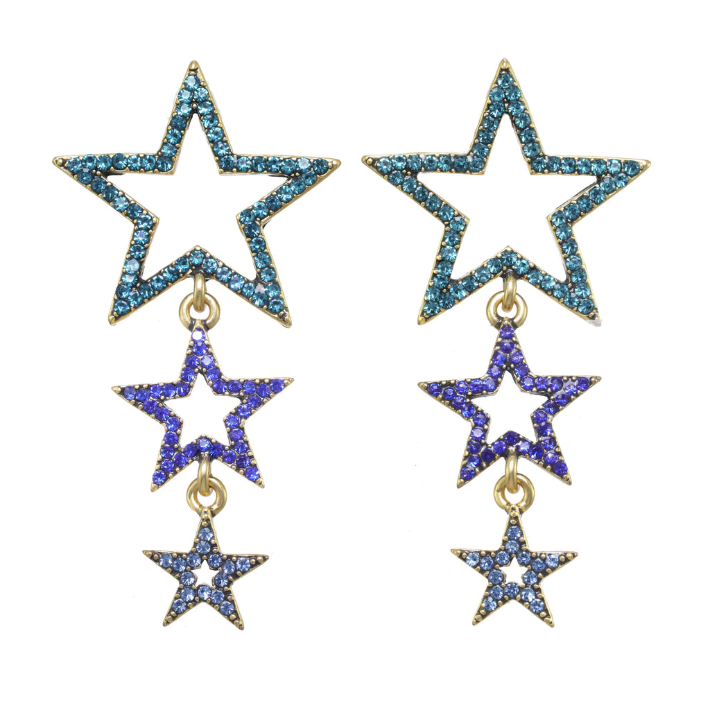 Shooting Star Earring Sapphire