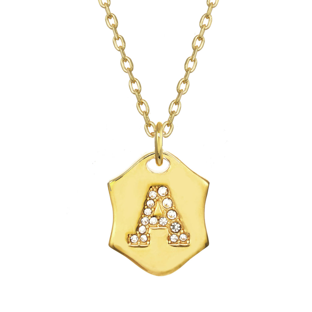 Nom De Plume Necklace Gold