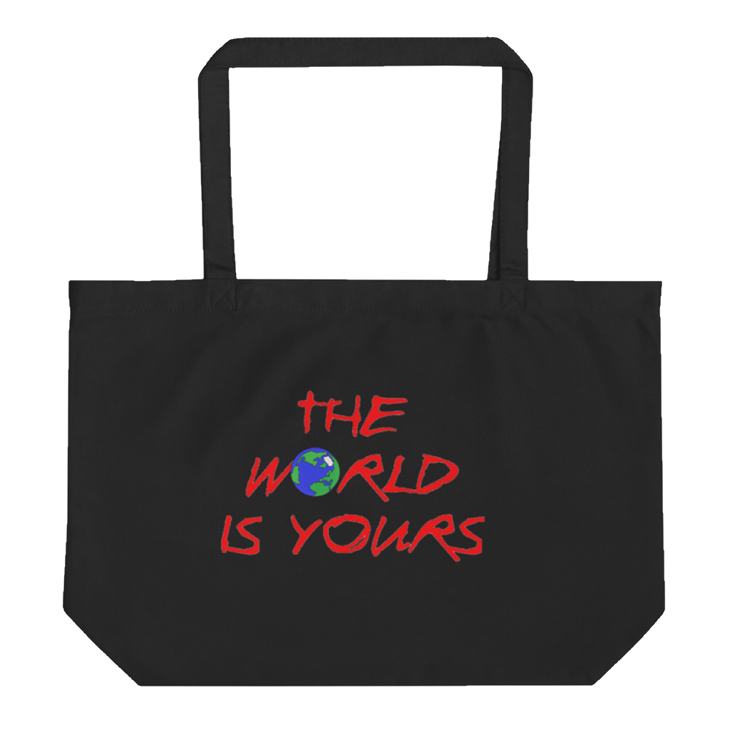 THE WORLD IS YOURS LARGE TOTE BAG