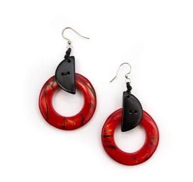 Two-Tone 100% Organic  Earrings