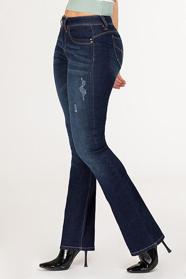 Junior Distressed Boot Cut Jeans