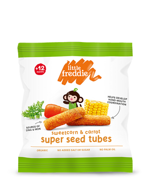 Sweetcorn & Carrot Super Seed Tubes