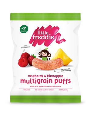 Raspberry & Pineapple Multigrain Puffs