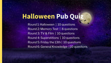 Load image into Gallery viewer, Halloween Pub Quiz