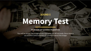 Memory Test Pub Quiz Questions