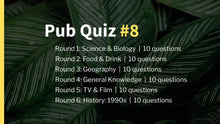 Load image into Gallery viewer, Ready-Made Pub Quiz #8