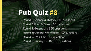 Ready-Made Pub Quiz #8