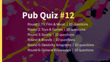 Load image into Gallery viewer, Ready-Made Pub Quiz #12