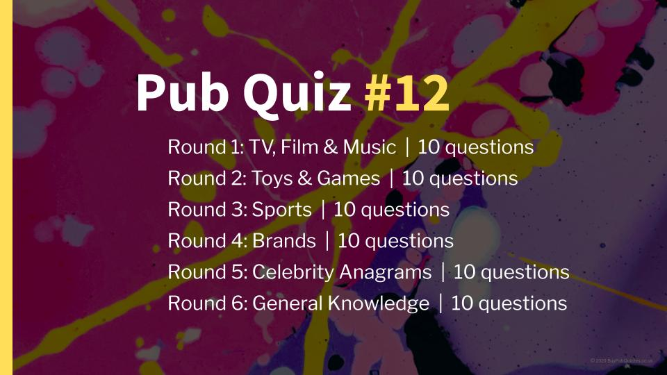 Ready-Made Pub Quiz #12