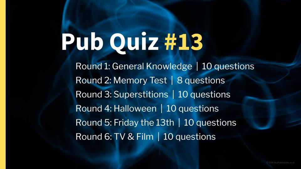 Ready-Made Pub Quiz #13