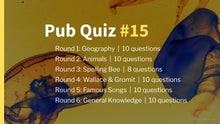 Load image into Gallery viewer, Ready-Made Pub Quiz #15