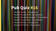 Load image into Gallery viewer, Ready-Made Pub Quiz #16