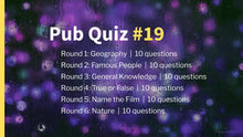 Load image into Gallery viewer, Ready Made Pub Quiz #19