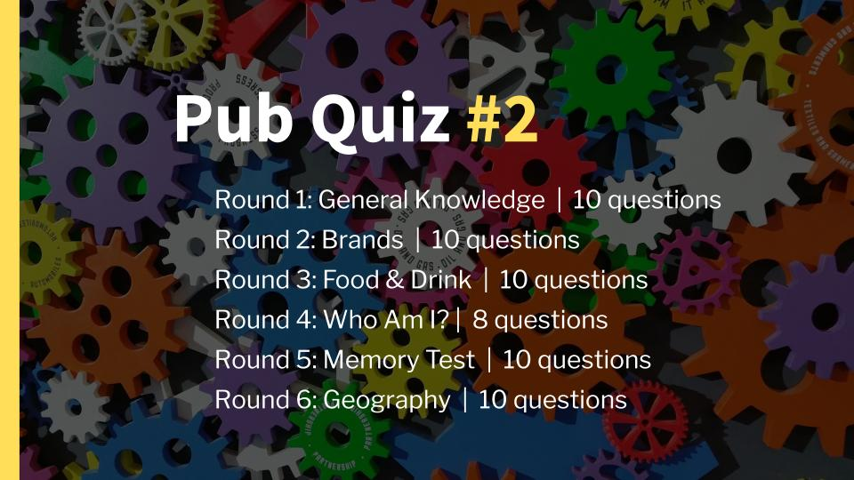 Ready-Made Pub Quiz 2 Intro Slide