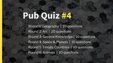 Load image into Gallery viewer, Ready-Made Pub Quiz #4