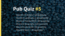 Load image into Gallery viewer, Ready-Made Pub Quiz #5