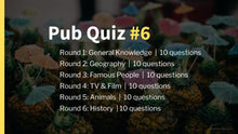 Load image into Gallery viewer, Ready-Made Pub Quiz #6