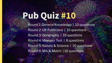 Load image into Gallery viewer, Ready-Made Pub Quiz #10