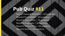 Load image into Gallery viewer, Ready Made Pub Quiz #11