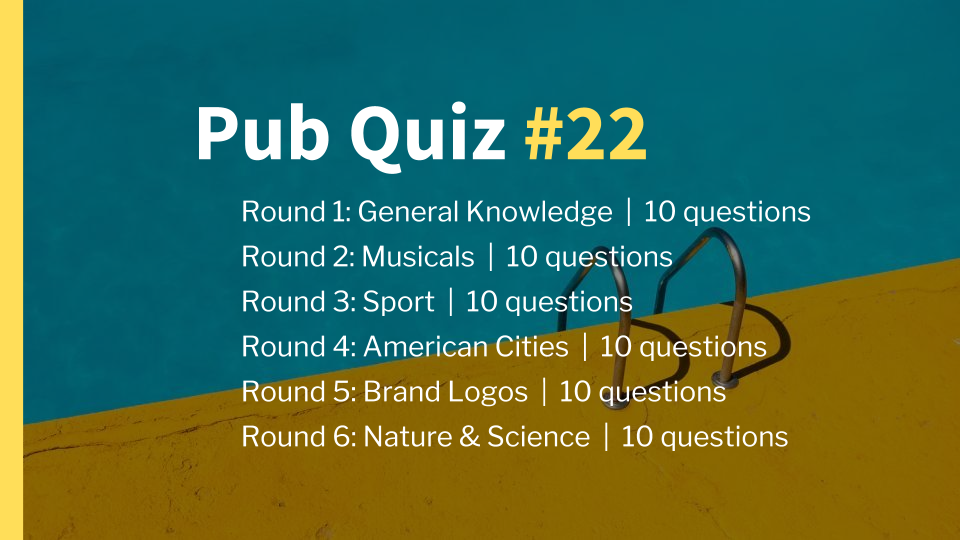 Ready-Made Pub Quiz #22