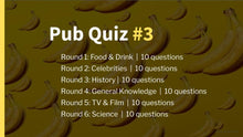 Load image into Gallery viewer, Ready-Made Pub Quiz #3
