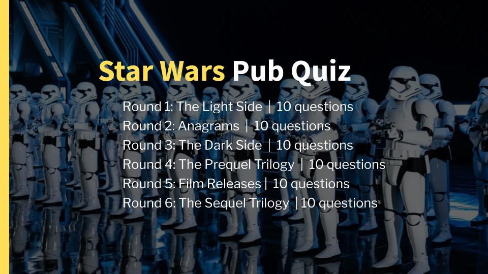Star Wars Pub Quiz