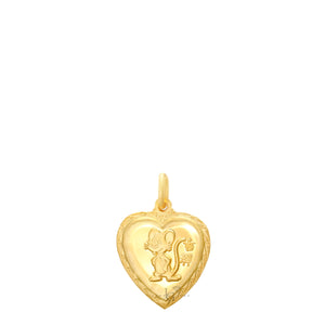 24K Mini Heart Rat Pendant