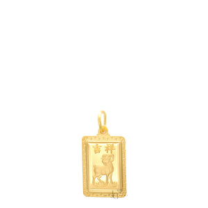 24K Mini Rectangle Ram Pendant