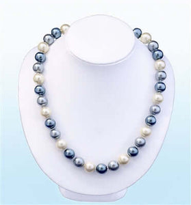Gabriola Pearl Statement Necklace, 18 inches