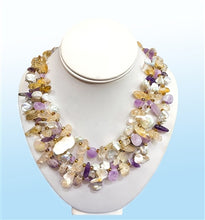 Load image into Gallery viewer, Multi-Stone Layer Necklace, 18 inches
