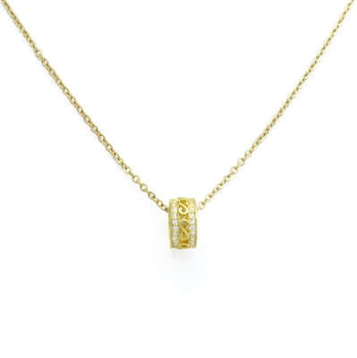 6mmx10mm Gold Tone Pendant Ring Necklace