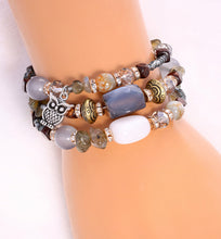 Load image into Gallery viewer, Magical Owl Adjustable Bracelet Wrap