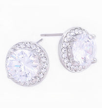 Load image into Gallery viewer, Radiant Lavender CZ Halo Stud, 12mm