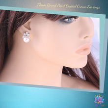 Load image into Gallery viewer, Radiant Crown Pearl Earrings, 12mm