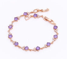 Load image into Gallery viewer, Amethyst Purple Crystal Tennis Bracelet, 7 inches