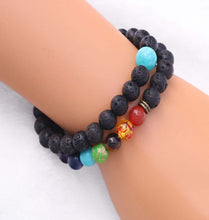 Load image into Gallery viewer, 7 Chakra Healing Diffuser Bracelet