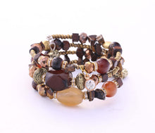 Load image into Gallery viewer, Golden Mocha Adjustable Bracelet Wrap