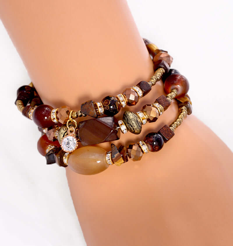 Golden Mocha Adjustable Bracelet Wrap