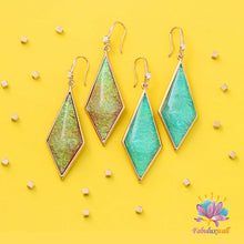 Load image into Gallery viewer, Succie 'Forest' Drop Earrings