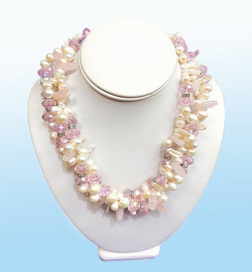 Pearl Torsade Necklace, 20 inches